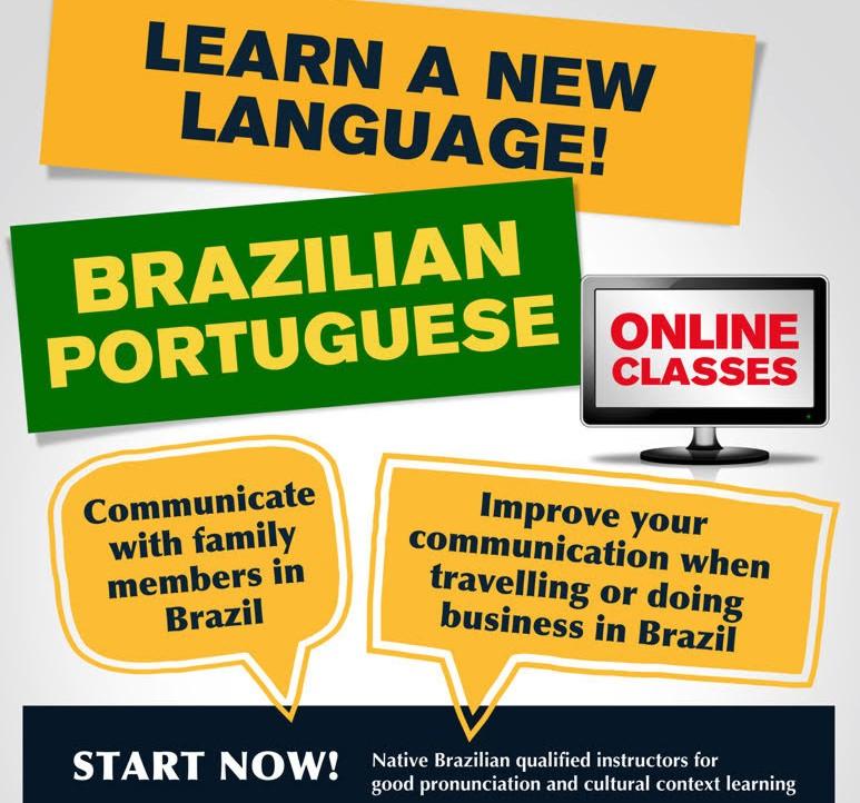 Portuguese Online Classes Poster